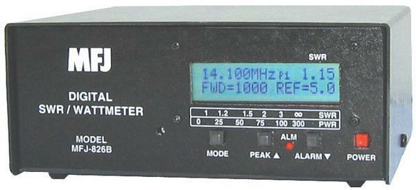 MFJ-826B Digital HF/6M (1.8 - 54MHz) SWR/Wattmeter with Frequency Counter. Buy it now for 219.95