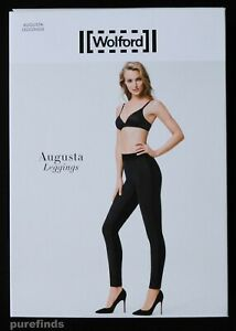 Augusta Taglia New 36 Black In Front Box Uk Wolford 9009752823487 Leggings 8 Velour gdqgR