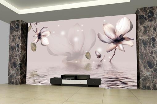 3D River Flowery 53 WandPapier Murals Wand Drucken WandPapier Mural AJ Wand UK Jenny