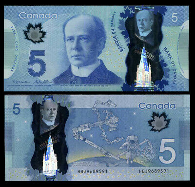 CANADA 5 DOLLARS 2013 P 106 POLYMER MACKLEM POLOZ UNC