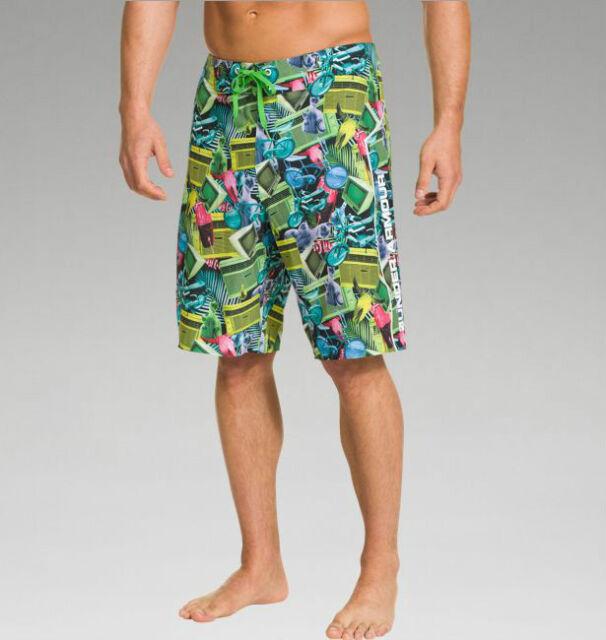 4595390af3 Mens Under Armour UA Seaford Hydro Board Shorts 1242444 NWT SOLD OUT Swim  Trunks