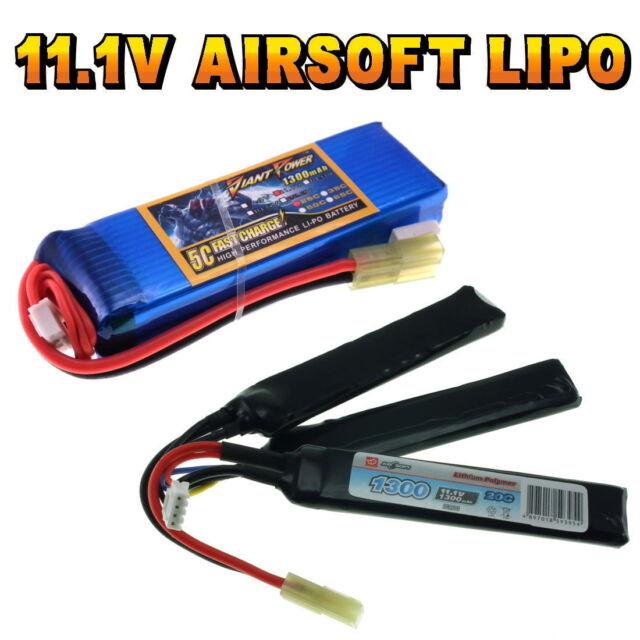 11.1V 800mAh 20//40C LiPO Airsoft Battery VapexTech