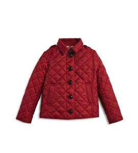 Details About Burberry Girls Diamond Quilted Jacket Little Kid Big Kids Red Size 12m