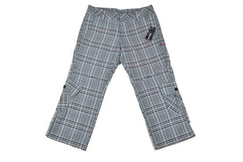 Hurley MILES PLAID H2O Blue Stone Beige Black Plaid Pockets Junior/'s Capri Pants