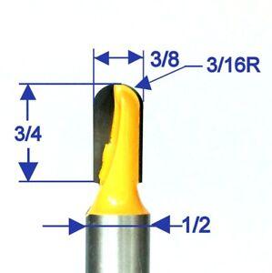 "1pc 1/2"" Shank 3/8"" Diameter 3/4"" Long Ball Round Nose Router Bit S"