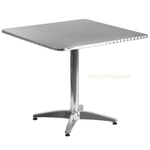 3 Sizes Square Commercial Aluminum Dining Table In//Outdoor 1950's Round