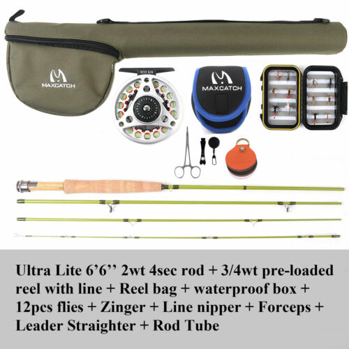 """For Small Creek 1//2//3WT Fly Rod 6/' Graphite IM10 6/'6/""""// 7/' 7/'6/"""" Fly Fishing"""