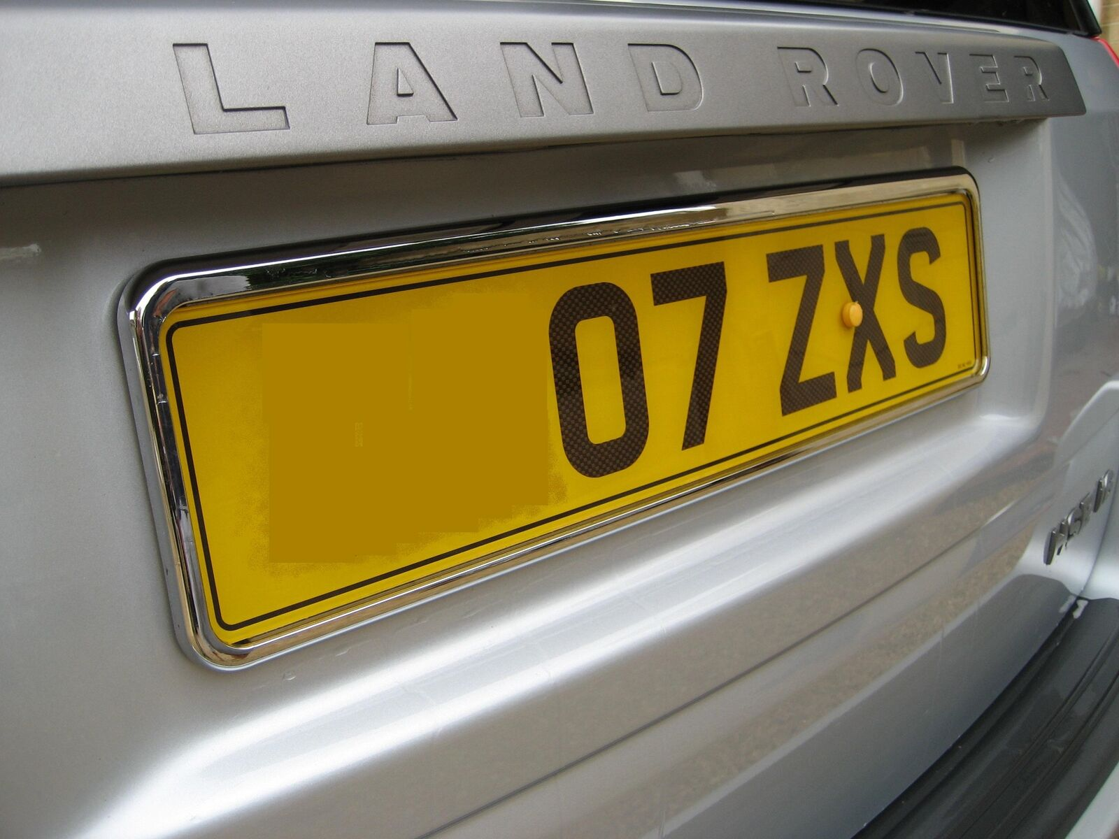 Pair of Chrome Number Plate Surrounds