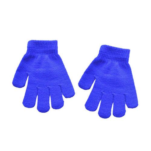 Toddler Kids Children Baby Cute Solid Print Hot Girls Boys Of Winter Warm Gloves