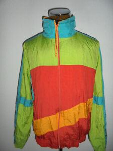 vintage-90s-SHAMP-Nylon-Jacke-glanz-trilobal-sports-shiny-jacket-oldschool-XL