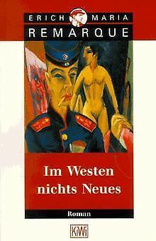 Im Westen Nichts Neues Von Erich Maria Remarque 1987 Taschenbuch
