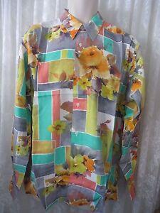 Giorgio DANIELI Shirt Vintage NWT Retro  Rayon Long Sleeve  VIBRANT