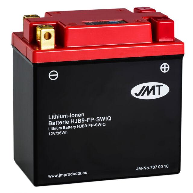 JMT Lithium-Ionen-Motorrad-Batterie HJB9-FP YB7-A 12N7-4A HVT-9 YB9L-A2 12V