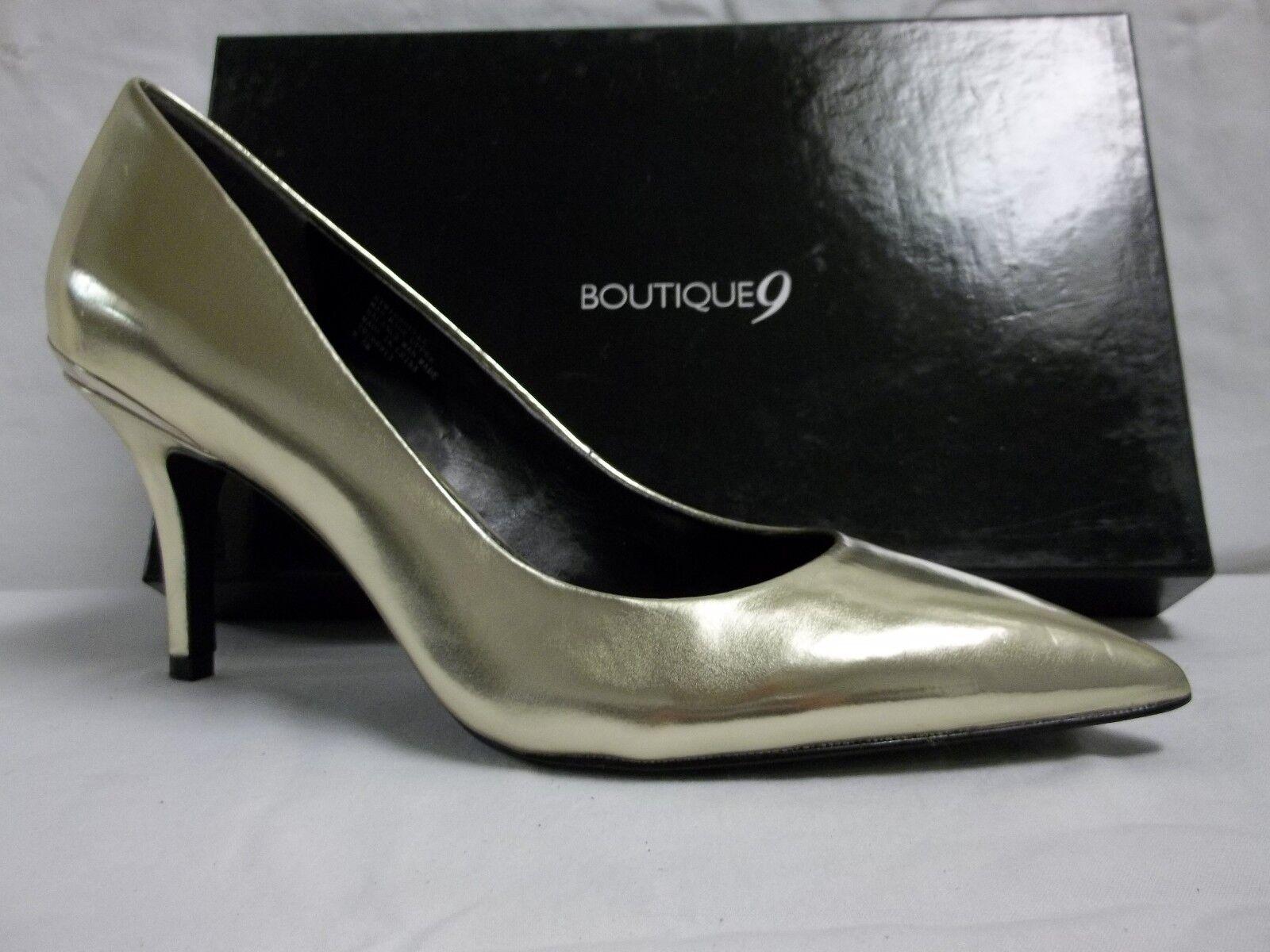 Boutique 9 Größe 9.5 M Mirabelle Light Gold Pumps New Damenschuhe Schuhes