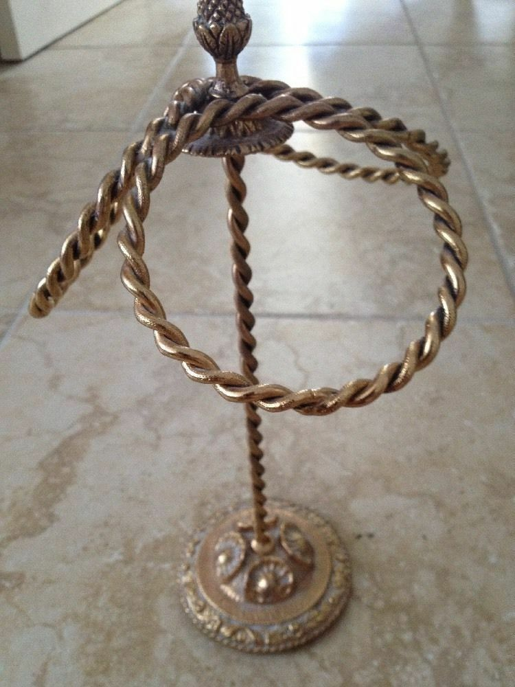 Brass 3 ring hand towel holder