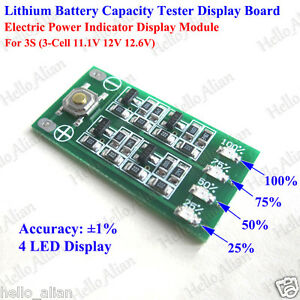 3S 1S 2S 4S Lithium Battery Pack Power Indicator Board Battery Tester UK