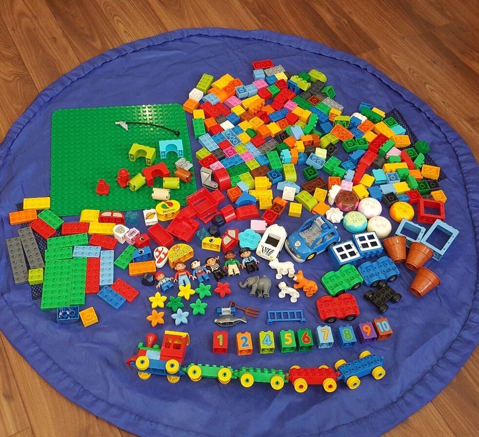 Huge Job Lot Lego Duplo Duplo Duplo Bundle Trains Cars Zoo Animals People Plants Number 6f4f42