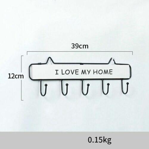 Wall Mount Key Rack Hanger Holder 3 4 5 Hook Chain Organizer Home SELL