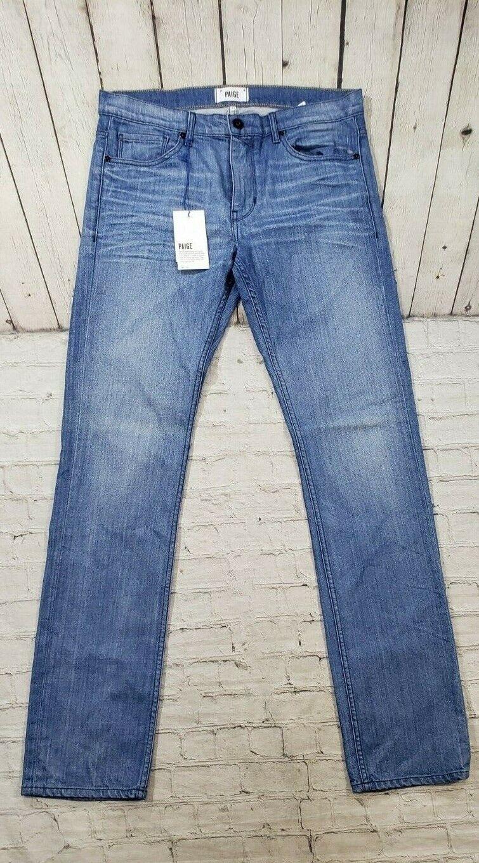 Nuevo Paige Denim Jeans Jeans Jeans federal el calce ajustado lavado mediano para mujer Talla 33 3c276a