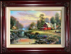 Thomas-Kinkade-Sunset-at-Riverbend-Farm-18-034-x27-034-S-N-DBL-SGND