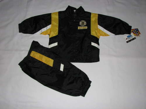NEW Boys Baby Boston Bruins Windsuit Jacket Size 18M 18 Mo Jogging Track