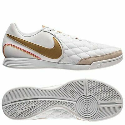 Estándar Ártico fondo de pantalla  Nike Tiempo Legend VII Ronaldinho 10R IC Indoor Soccer Leather Shoes  White-Gold   eBay