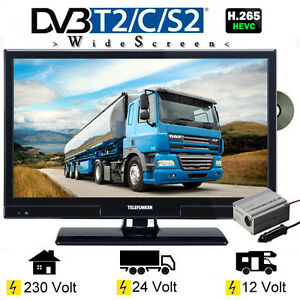 telefunken l20h270 widescreen 20 zoll led tv dvb s s2 t2 c dvd 12 230v 24 volt ebay. Black Bedroom Furniture Sets. Home Design Ideas