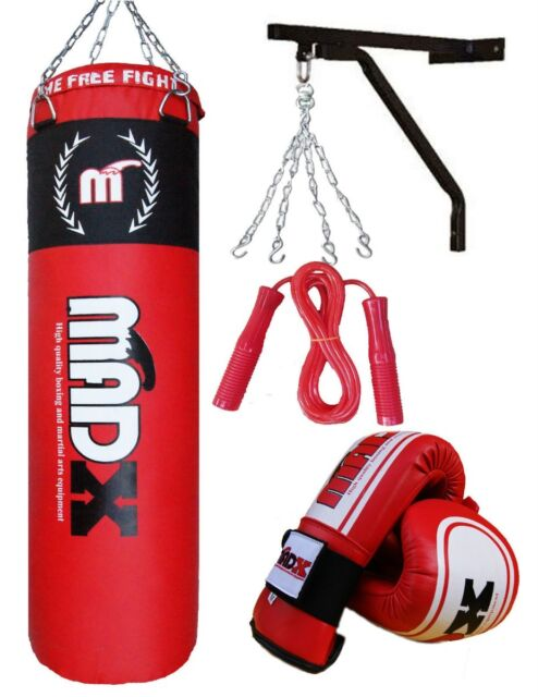 Madx 1.5m Padded Heavy Punching Bag Chain Support Kick Boxing MMA Set