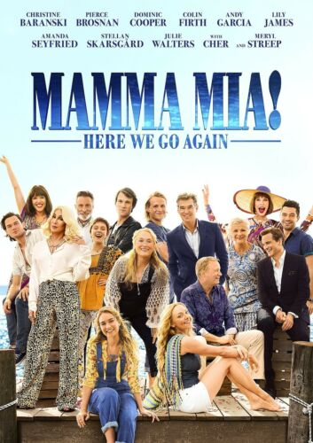 CHOOSE YOUR SIZE Here We Go Again Poster FREE P+P Mamma Mia 2 Movie 2018 New