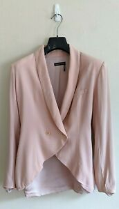 GINGER-amp-SMART-Blush-Pink-Silk-Crepe-Blazer-100-Silk-Size-10-AUS-6-US