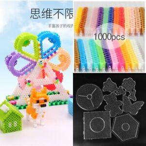 Hama-Beads-pareti-forate-5mm-fai-da-te-pupukou-Strumento-Perler-Fuse-modello-Puzzle-Bambini