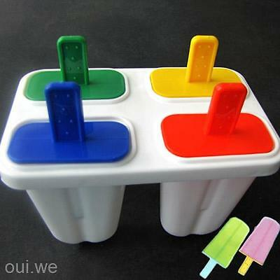 4 Grid Thice Ice Cream Freeze Lollypop Lollipop Ice Tray Cube Mould Shaper Funny