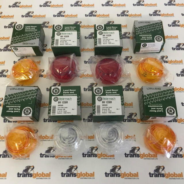 Land Rover Series 2a & 3 Complete Light Lens Set of 8 - Bearmach Parts