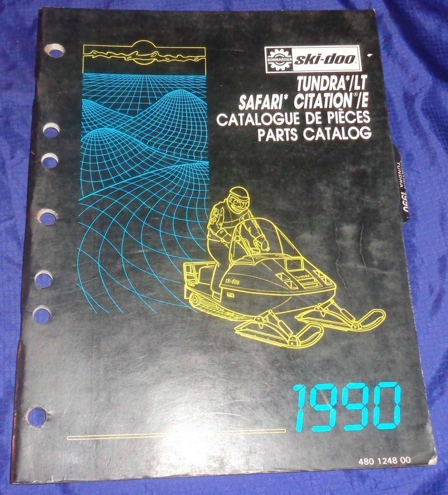BS689 1990 Ski-Doo Tundra LT Safari Citation E Parts Catalog 480 1248 00 Manual
