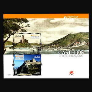 Portugal-2017-EUROPA-Stamps-034-Palaces-and-Castles-034-Architecture-s-s-MNH