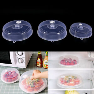 Clear-Microwave-Plate-Cover-Food-Dish-Lid-Ventilated-Steam-Vent-Kitchen-FE