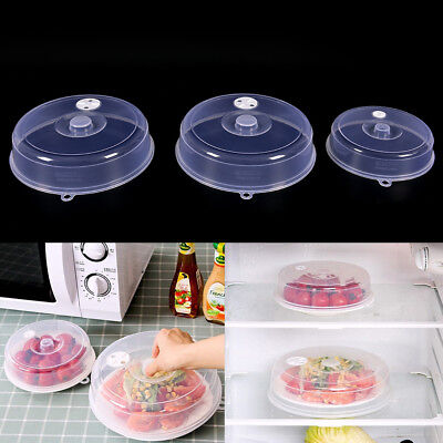 Clear Microwave Plate Cover Food Dish Lid Ventilated Steam Vent/_Kitchen ZE