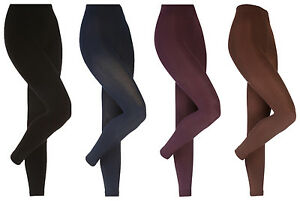Heat-Holders-Womens-Thick-Winter-Warm-Soft-Brushed-Thermal-Leggings-4-Colors