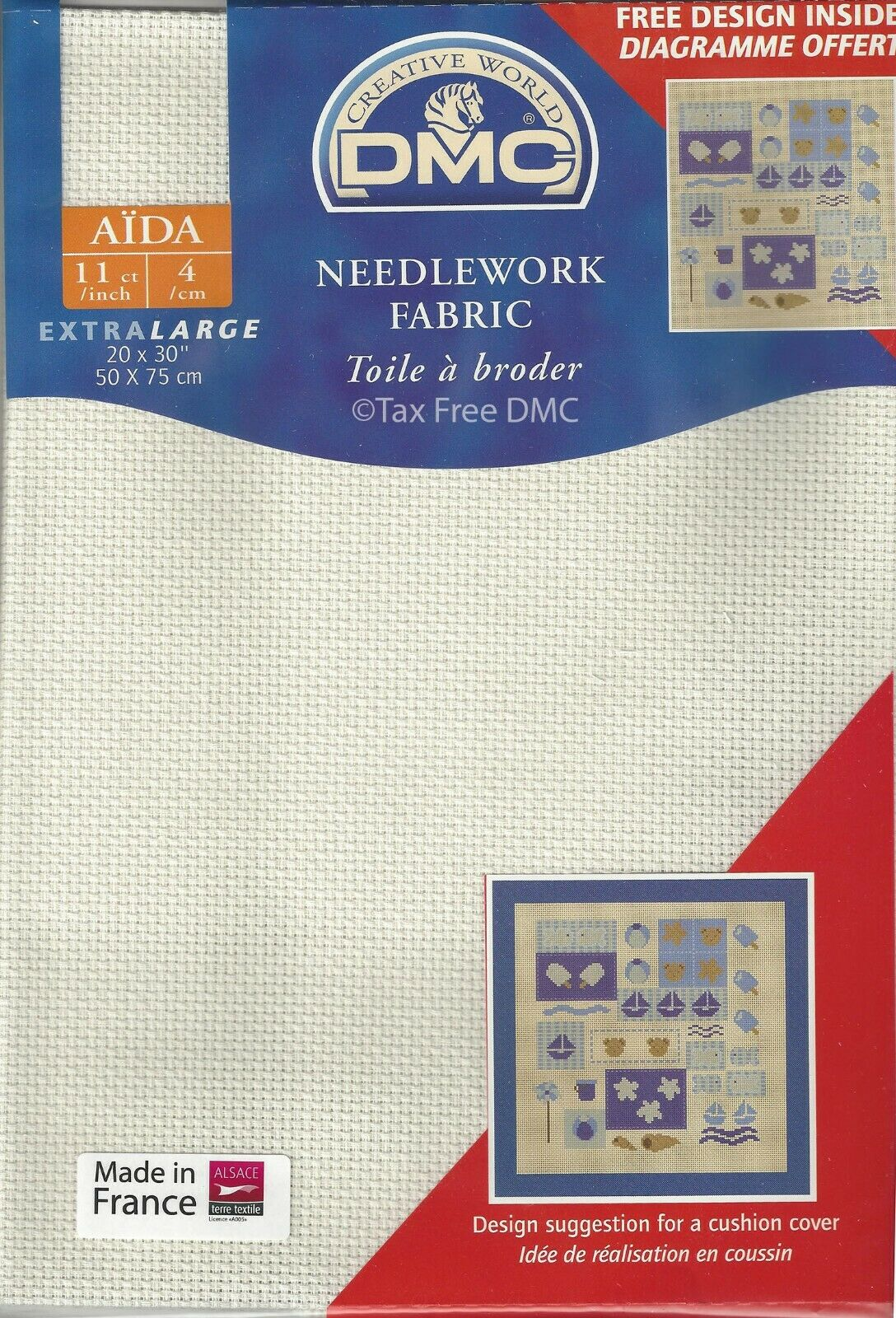 RTO prepacked Aida Cross stitch fabric BEIGE 14 count 39cm x 45cms