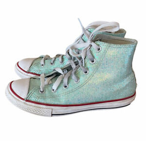 Converse All Star Chuck Taylor High Tops Green blue  Youth Girls Junior Size 3