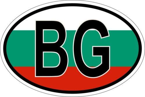 Sticker aufkleber Nationalitätenkennzeichen flagge fahne bulgarien BG