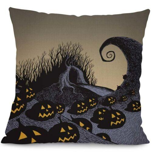 "18/"" Nightmare Before Christmas Halloween Throw Pillow Case Waist Cushion Cover"