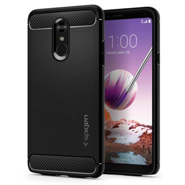 purchase cheap 90bb6 a0bfb Spigen Rugged Armor LG Stylo 4 Black
