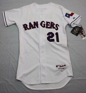 low priced 12a0a 9034f Details about M17 New MAJESTIC Vintage Texas Rangers Milton Bradley  Authentic Jersey MEN'S 40