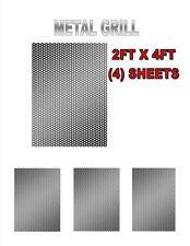 4 SHEETS BLACK METAL 2' X 4' X 1.2MM DJ SPEAKER/WOOFER CABINET GRILL SHEET COVER