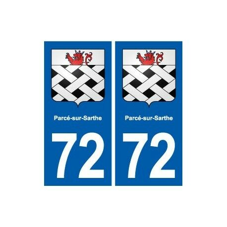 72 Parcé-sur-Sarthe blason autocollant plaque stickers ville droits