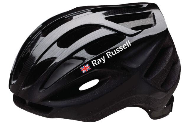 6 personalised name stickers bike frame or helmet decals cycling cycle helmet