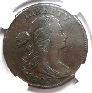 1803 Draped Bust Large Cent 1C Coin - Certified NGC VF Details - Rare Date!