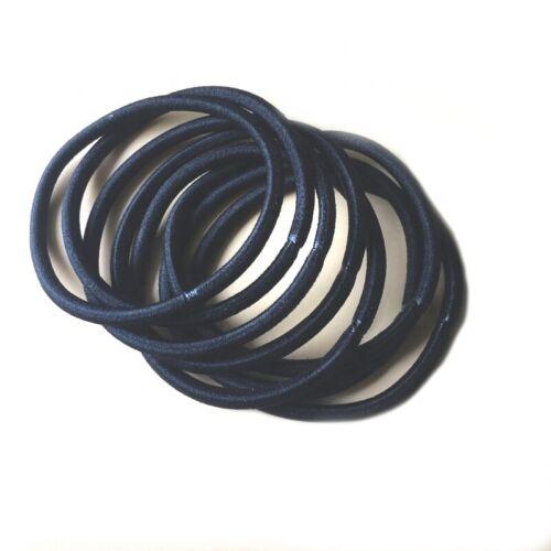 Bandas de pelo negro Thi Elásticos Snag libres de Pelo Cabello Motas De Niña Mujer