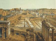 Rome FORUM ROMANUM TEMPLE CAESAR ARCH RUINS ~ Old 1882 Art Print Engraving RARE!